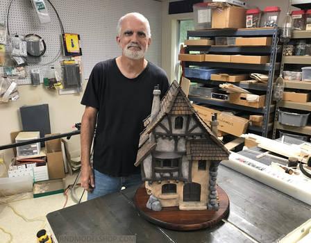 Timber Frame Wood Miniature House 1