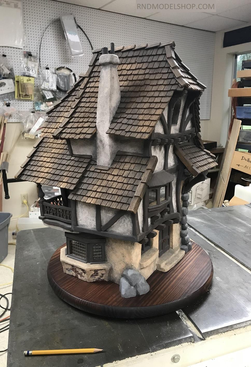 Timber Frame Wood Miniature House 2