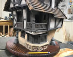 Timber Frame Wood Miniature House 3 by RNDmodels