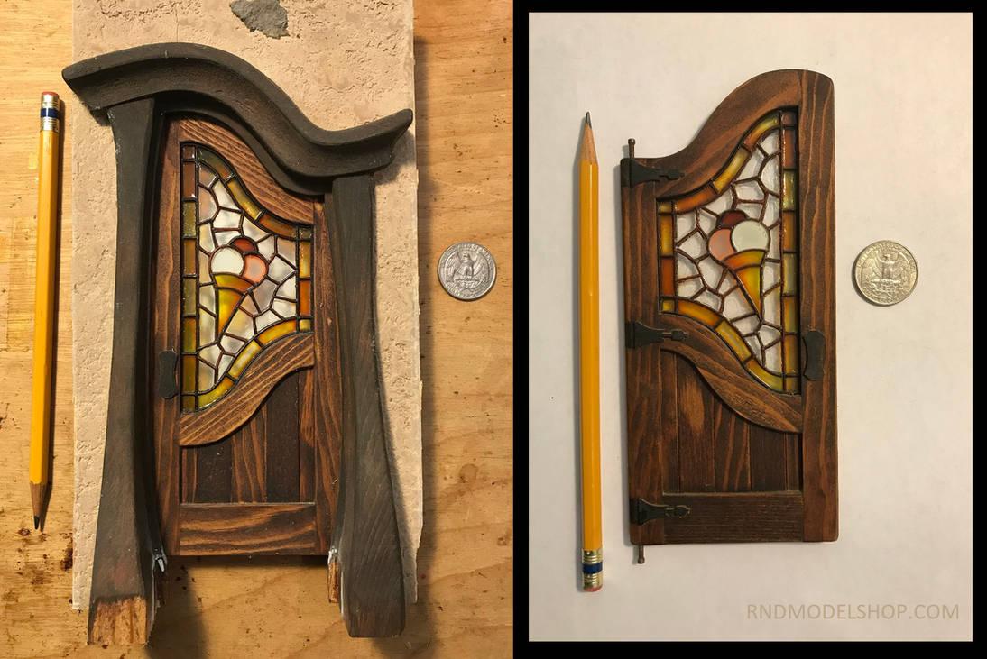 Miniature Fantasy Tudor Cottage Ice Cream Door