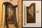 Miniature Fantasy Tudor Cottage Ice Cream Door by RNDmodels