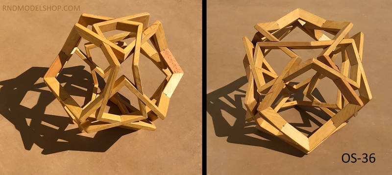Octahedron of 24 Right Angles Sculpture (OS-36)