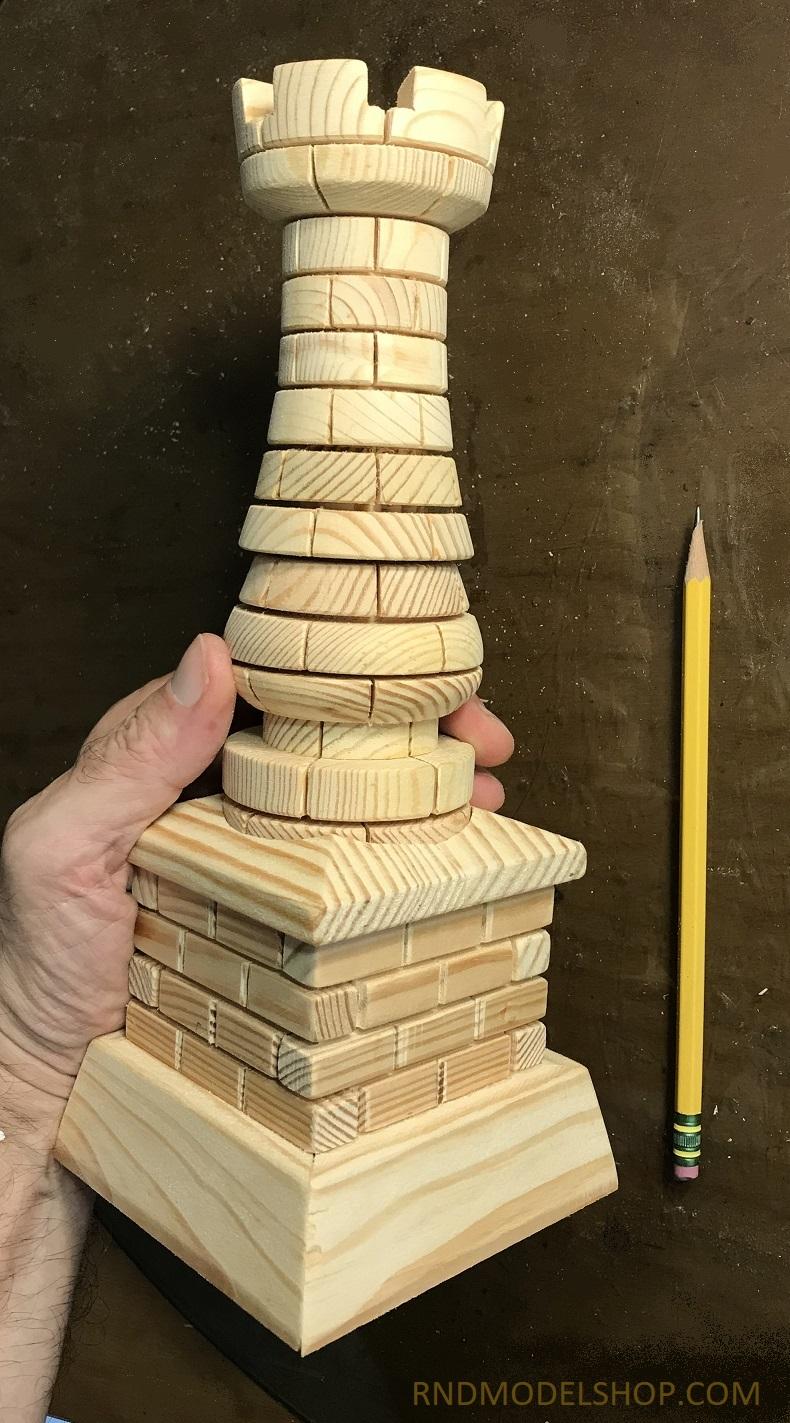 Miniature Rook Pillar on a Base