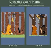 Draw it again meme by Snowy-Clover