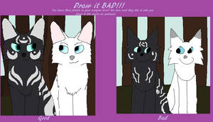 Draw it bad! by Snowy-Clover