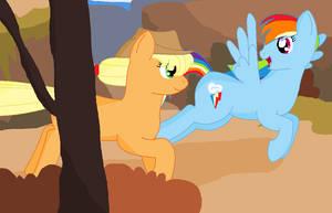 AJ And Rainbow by Snowy-Clover