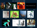 2017 Summary of Art by Snowy-Clover