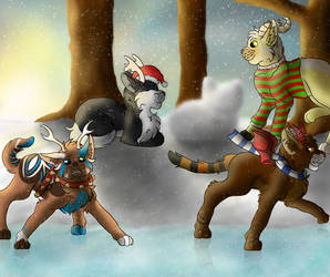 Christmas Time (Speedpaint) by Snowy-Clover
