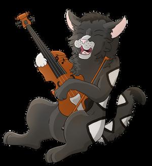 Musical Cat (Speedpaint)