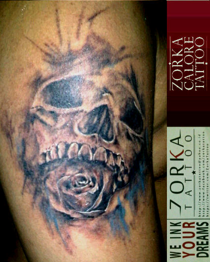 04df6bc9c skull n roseby zorka calore tattoo by surfboyz12 on DeviantArt