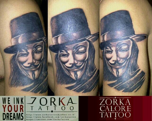 V For Vendetta By Zorka Calore Tattoo By Surfboyz12 On Deviantart