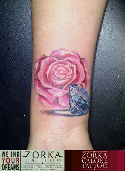 bd7d554db Rose and Diamond by zorka calore tattoo by surfboyz12 on DeviantArt