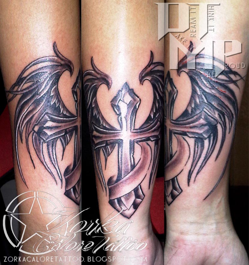 1e61af774 cross and wings by zorka calore tattoo by surfboyz12 on DeviantArt