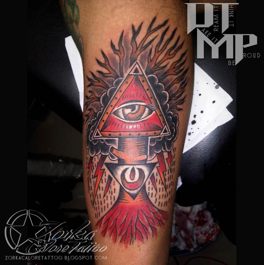 Illuminati Triangle Tattoo Illuminati triangle tattoo by