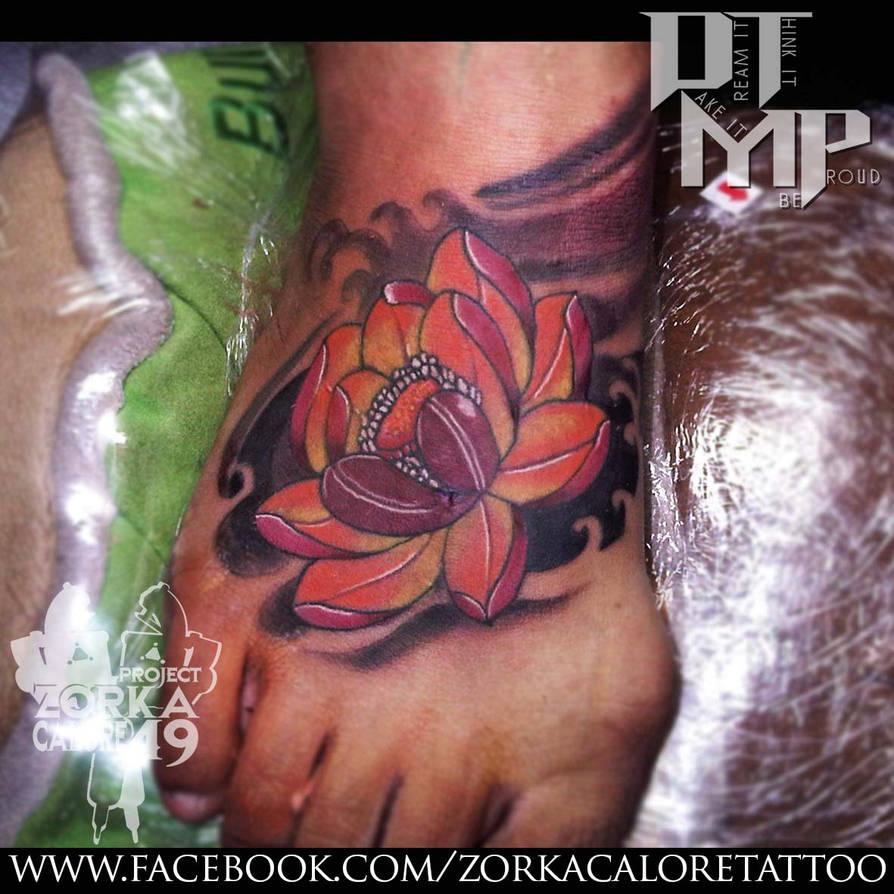 ebd374045 Lotus tattoo by zorka calore tattoo by surfboyz12 on DeviantArt