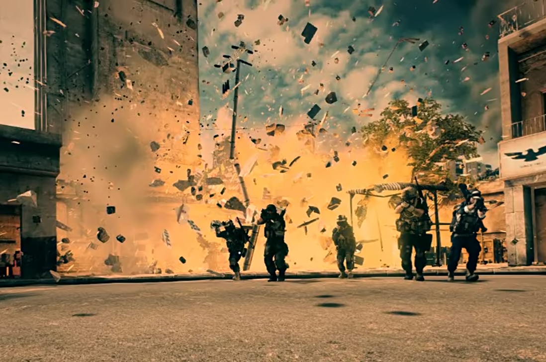 Cool guys walking away from explosions with everyo by ...