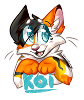 Koi Badge by BreezyBunny
