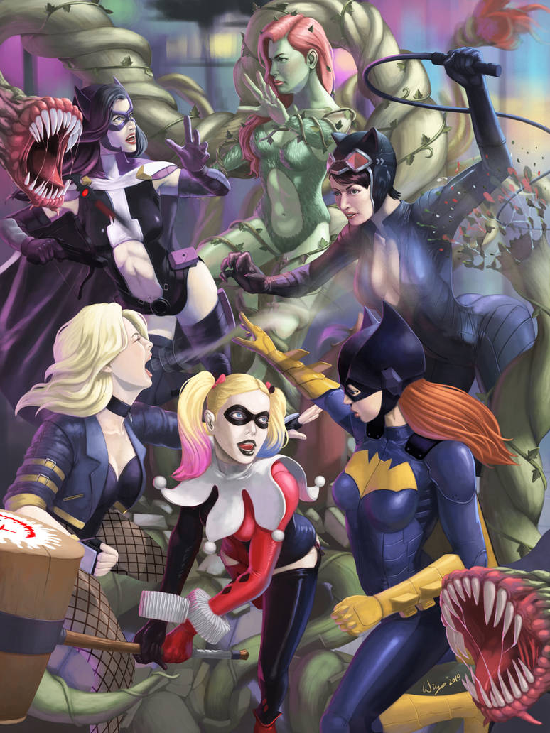 Gotham City Sirens VS Birds of Prey by wingwingwingwing