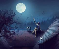 La fille sur le toit by cendredelune