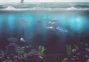 La femme de l'ocean by cendredelune