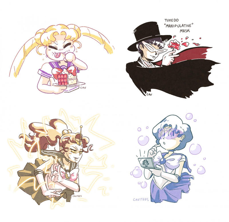 Sailor Moonies by Cavitees