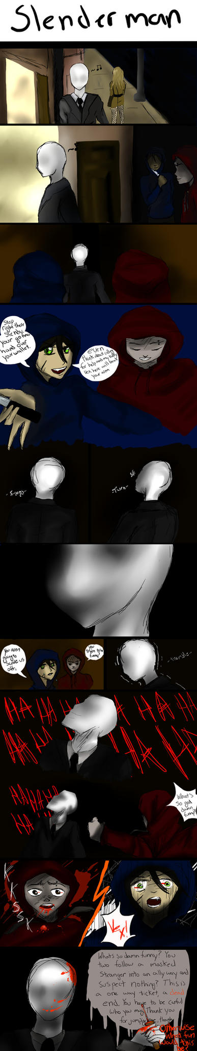 Slender man comic: by all-the-lovely-death