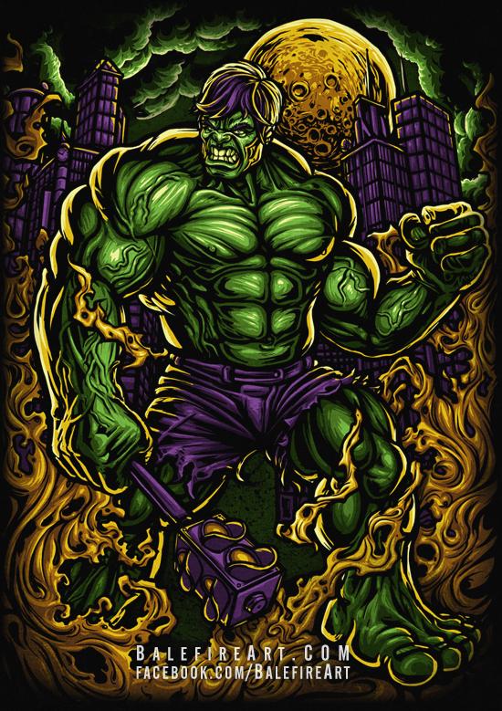 Hazardous Hulk by BalefireArt