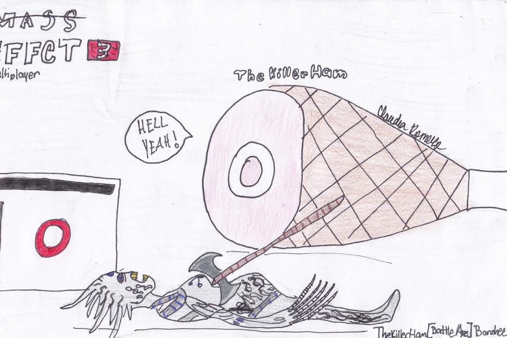 Ham killing a banshee by Cloudie-Skye