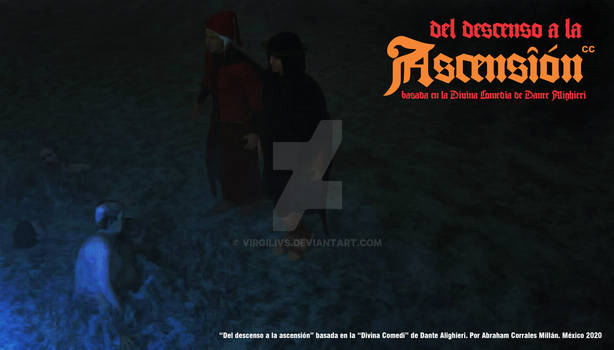 Dante and Vergil arriving at the Judecia