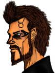 Adam Jensen Deus Ex character study by SALVAGEPRIME8686