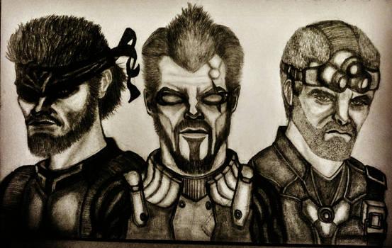 Adam Jensen, Sam Fisher and Snake