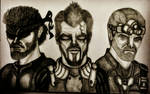 Adam Jensen, Sam Fisher and Snake by SALVAGEPRIME8686