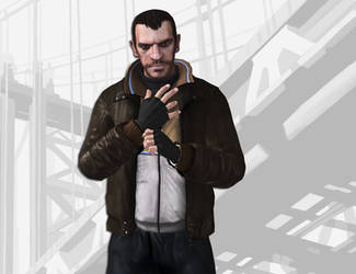 GTA IV Niko Bellic Artwork in XPS