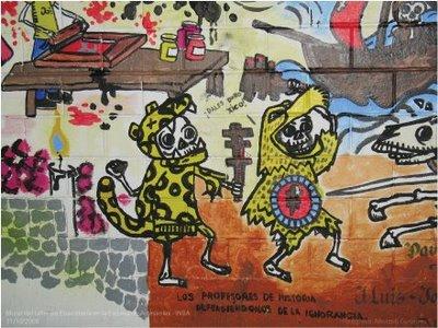 Mural de dia de muertos ahui 2 by ahui tacubaya on deviantart for Dia mural artist