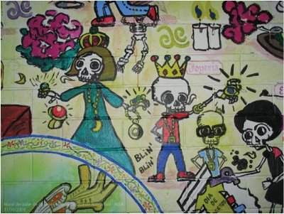 Mural dia de muertos ahui 3 by ahui tacubaya on deviantart for Dia de los muertos mural