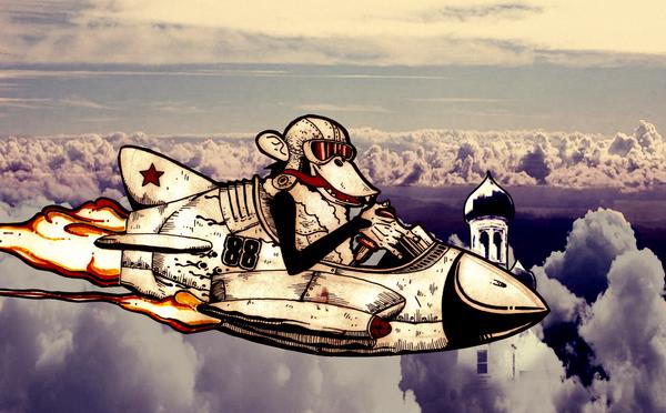 Soviet Jet Monkey by conte-di-cagliostro