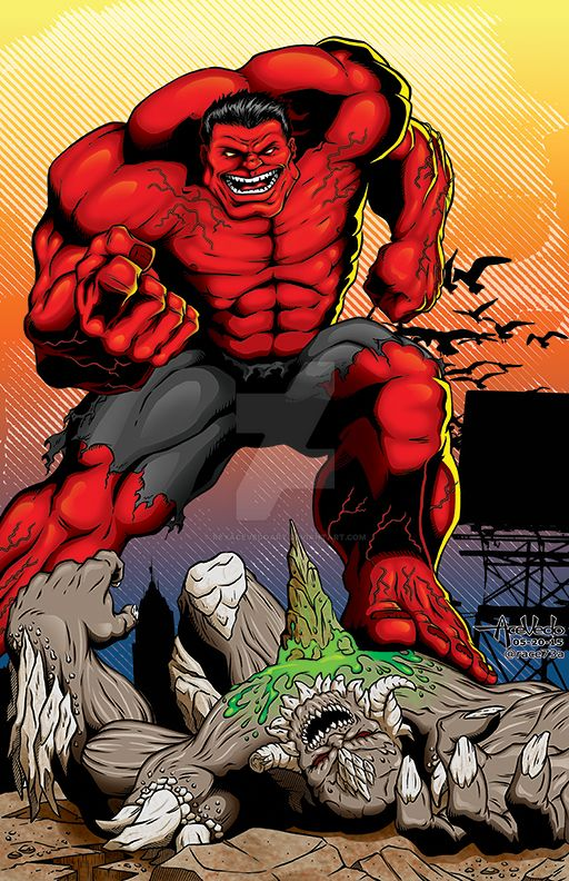 Red Hulk vs Doomsday by ReyAcevedoArt on DeviantArtDoomsday Vs Hulk