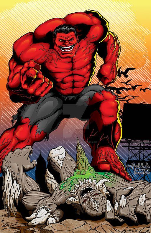 Red Hulk vs Doomsday by ReyAcevedoArt on DeviantArt Red Hulk Vs Doomsday