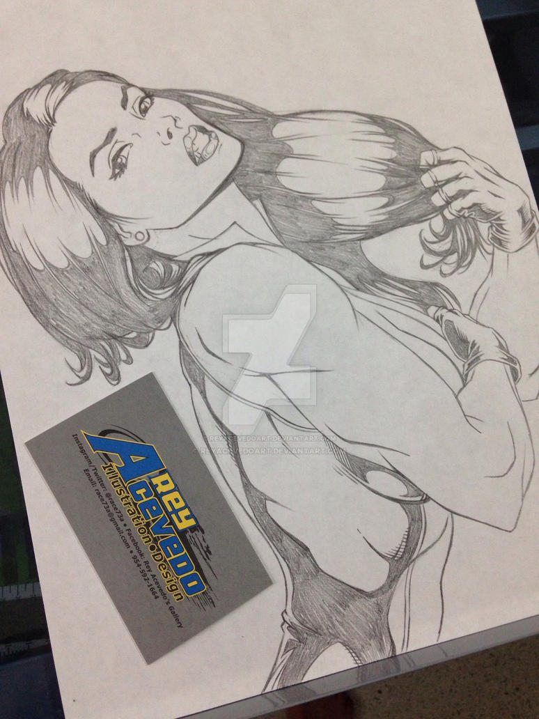 She-Hulk Sketch by ReyAcevedoArt