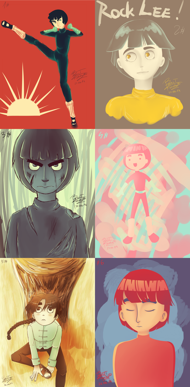 Colour Pallete Meme: Rock Lee - Part 1-6 by BeastKonoha