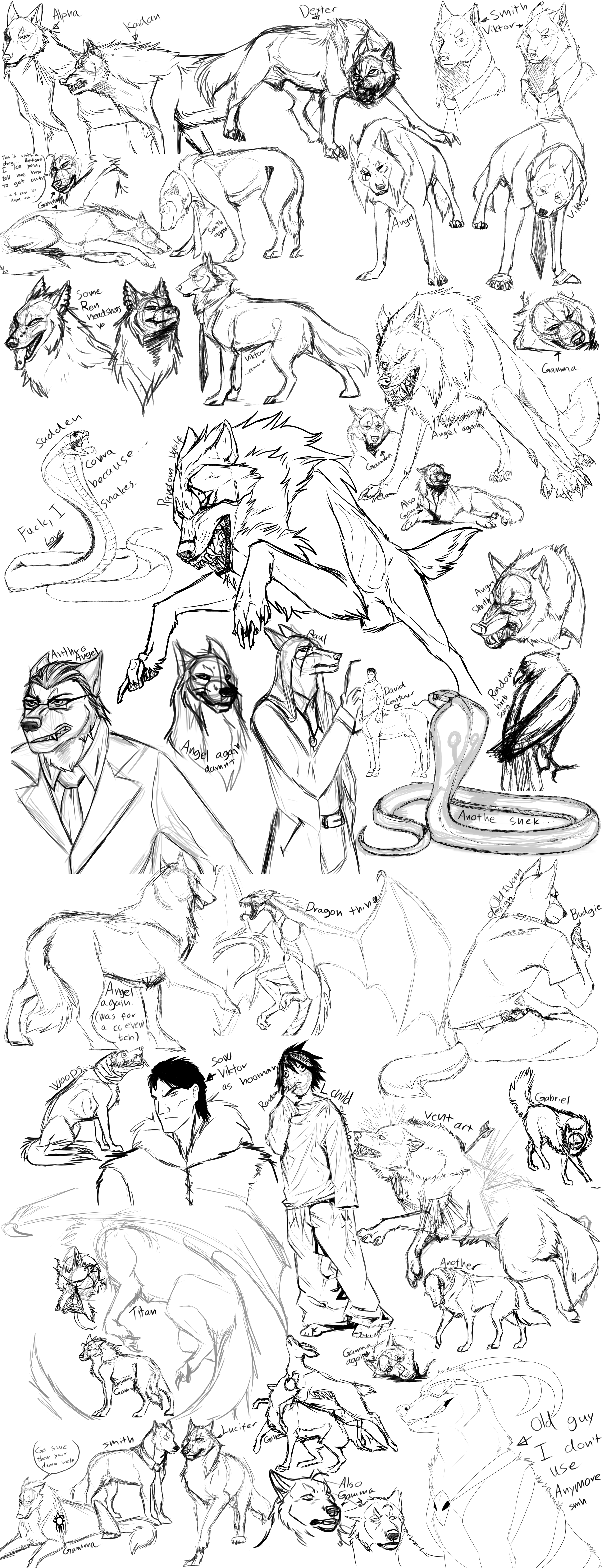 Sketch Dump 2016 by CXCR