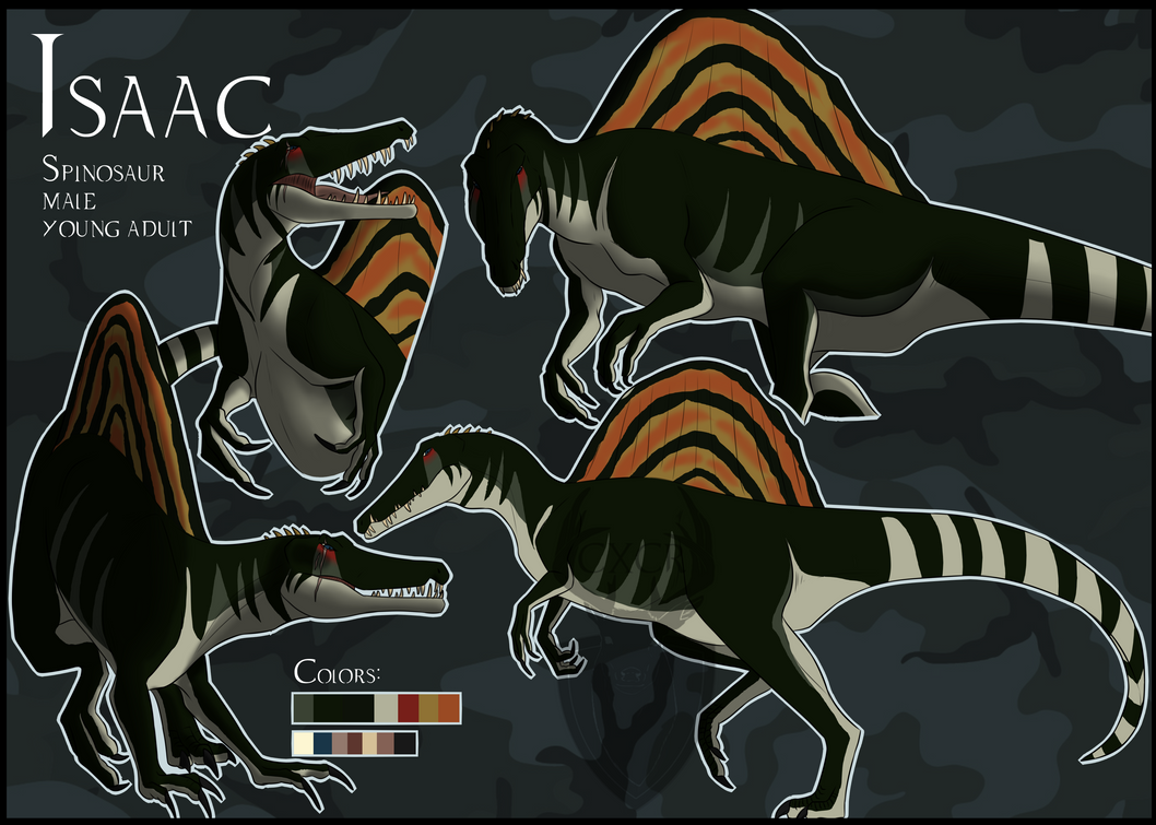 Dino-Sona: Isaac the Spino (Timelapse) by CXCR