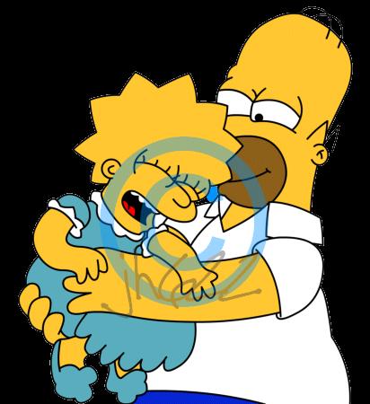 Homer tickling Lisa by jh622