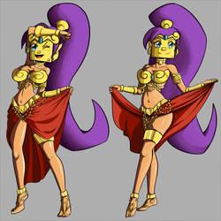 [COMISSION] Shantae Coinblock helmet by MegaLinx
