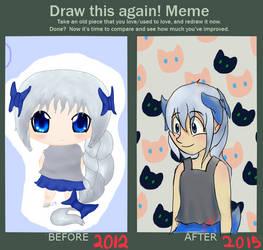 Present for a Friend - Asaa (Redraw Meme) by OoBurashioO