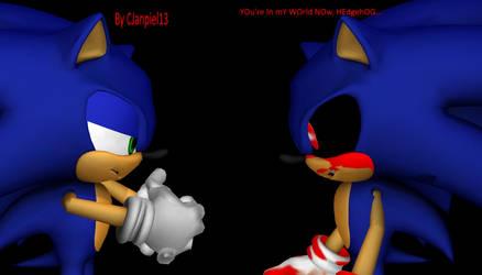 MMD Custom Creepypasta Model - Sonic.Exe V2.0 +DL+ by CJanpiel13