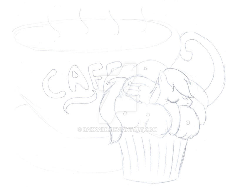 Derpy sleeping on a muffin (See disciption) by Rakkard