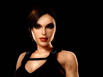 Lara Croft  hmmm by VanilleChan