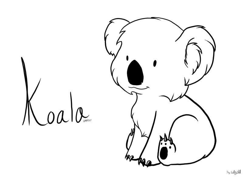 Line Drawing Koala : Koala by sillystell on deviantart