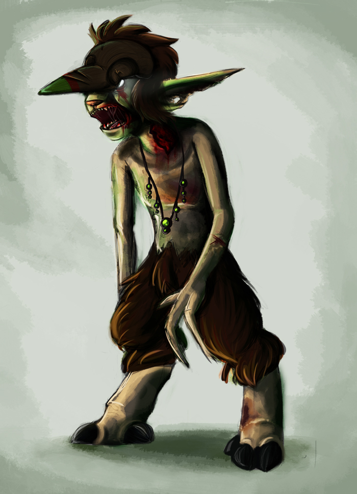 Zombie Goat Guy by SillyStell